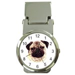 Pug ^ Money Clip Watch