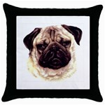 Pug ^ Throw Pillow Case (Black)