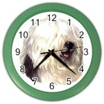 Old English Sheepdog ^ Color Wall Clock