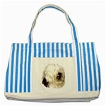 Old English Sheepdog ^ Striped Blue Tote Bag