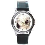 Old English Sheepdog ^ Round Metal Watch