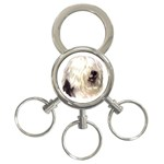 Old English Sheepdog ^ 3-Ring Key Chain