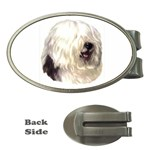 Old English Sheepdog ^ Money Clip (Oval)