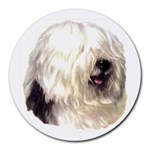 Old English Sheepdog ^ Round Mousepad