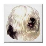 Old English Sheepdog ^ Tile Coaster