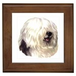 Old English Sheepdog ^ Framed Tile