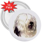 Old English Sheepdog ^ 3  Button (10 pack)