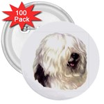 Old English Sheepdog ^ 3  Button (100 pack)