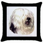 Old English Sheepdog ^ Throw Pillow Case (Black)