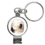 Old English Sheepdog ^ Nail Clippers Key Chain