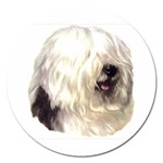 Old English Sheepdog ^ Magnet 5  (Round)