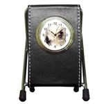 Old English Sheepdog ^ Pen Holder Desk Clock