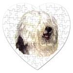 Old English Sheepdog ^ Jigsaw Puzzle (Heart)