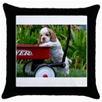 Cocker Spaniel ^ Throw Pillow Case (Black)