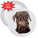 Dobermann Pinscher ^ 3  Button (100 pack)