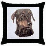 Dobermann Pinscher ^ Throw Pillow Case (Black)