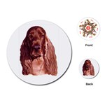 Irish Setter ^ Playing Cards (Round)