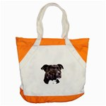 Staffie Black ^ Accent Tote Bag