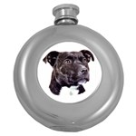 Staffie Black ^ Hip Flask (5 oz)