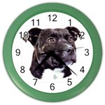 Staffie Black ^ Color Wall Clock