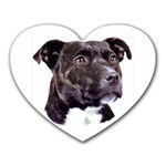 Staffie Black ^ Mousepad (Heart)