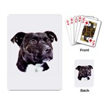 Staffie Black ^ Playing Cards Single Design