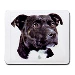 Staffie Black ^ Large Mousepad