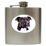 Staffie Black ^ Hip Flask (6 oz)