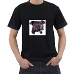 Staffie Black ^ Black T-Shirt