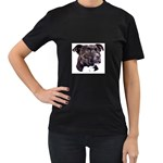 Staffie Black ^ Women s Black T-Shirt