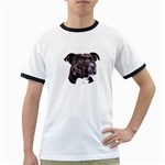 Staffie Black ^ Ringer T-Shirt
