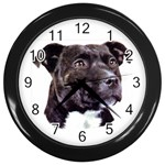 Staffie Black ^ Wall Clock