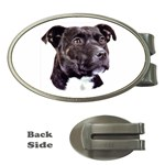 Staffie Black ^ Money Clip (Oval)