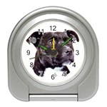 Staffie Black ^ Travel Alarm Clock