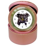 Staffie Black ^ Jewelry Case Clock