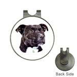 Staffie Black ^ Golf Ball Marker Hat Clip