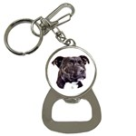 Staffie Black ^ Bottle Opener Key Chain