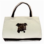 Staffie Black ^ Classic Tote Bag (Two Sides)