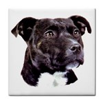 Staffie Black ^ Tile Coaster