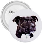 Staffie Black ^ 3  Button