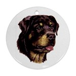 Rottweiler ^ Round Ornament (Two Sides)