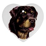 Rottweiler ^ Heart Ornament (Two Sides)