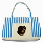 Rottweiler ^ Striped Blue Tote Bag
