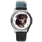 Rottweiler ^ Round Metal Watch