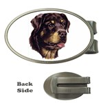 Rottweiler ^ Money Clip (Oval)