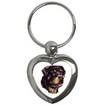 Rottweiler ^ Key Chain (Heart)