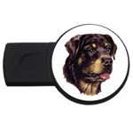 Rottweiler ^ USB Flash Drive Round (2 GB)