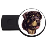 Rottweiler ^ USB Flash Drive Round (1 GB)
