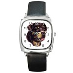 Rottweiler ^ Square Metal Watch
