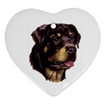 Rottweiler ^ Ornament (Heart)